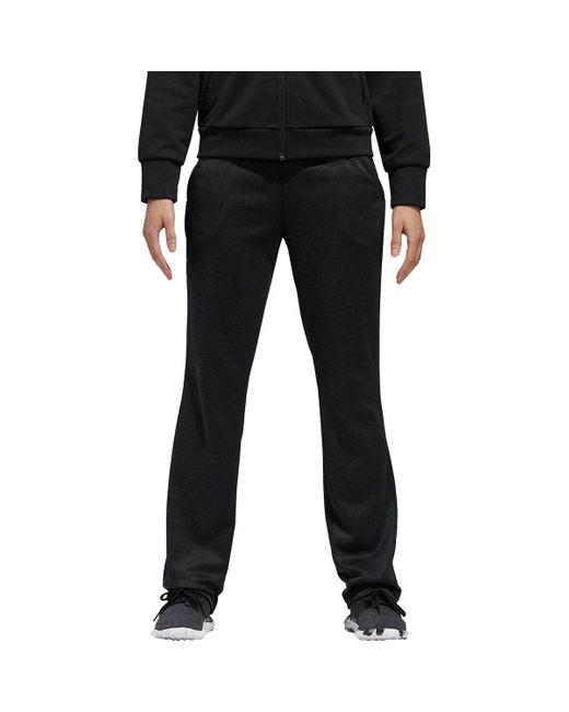 Adidas Black Team Issue Open Hem Workout Pants