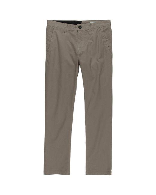 Volcom - Natural Frickin Slim Chino Pant for Men - Lyst