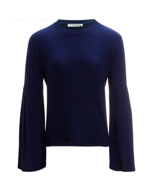 Project Social T | Blue Clara Brushed Thermal Long-sleeve Shirt | Lyst