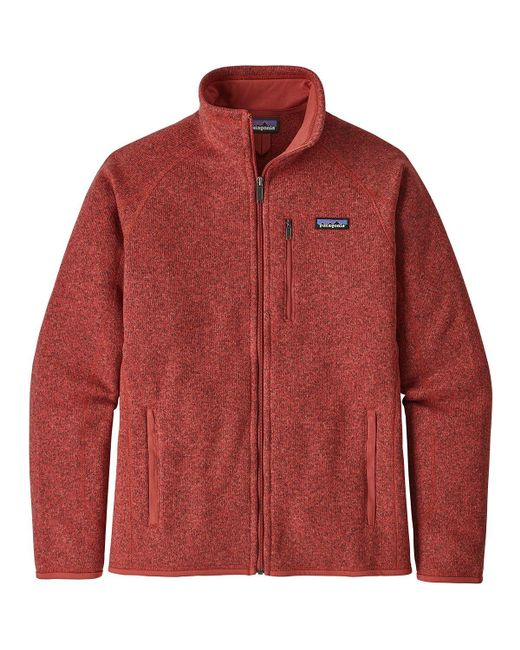 Patagonia Red Better Sweater Fleece Jacket for men