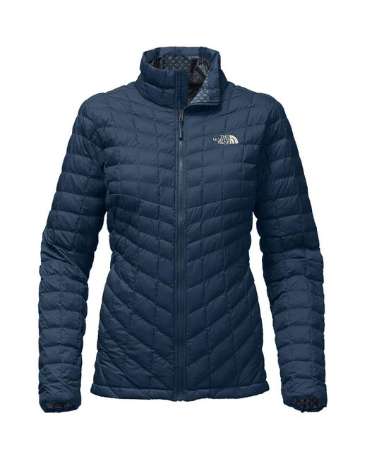The North Face - Women Thermoball Full Zip, Blue Wing Teal Matte/ Bandana Print - Lyst