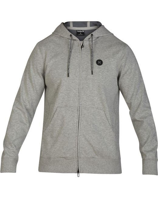 Hurley Gray Therma Protect Full-zip Fleece Hoodie for men
