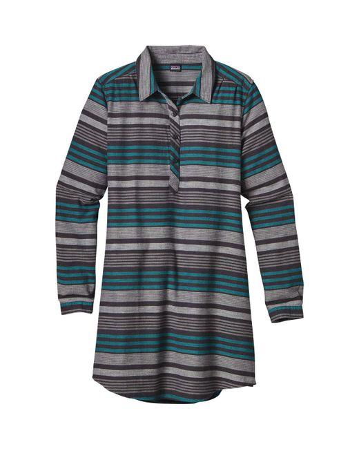 Patagonia - Black Heywood Flannel Dress - Lyst