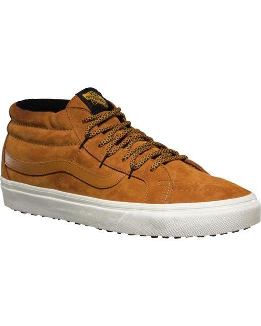 989ba4bea5b ... Vans - Brown Sk8-mid Reissue Ghillie Mte Shoe for Men - Lyst ...