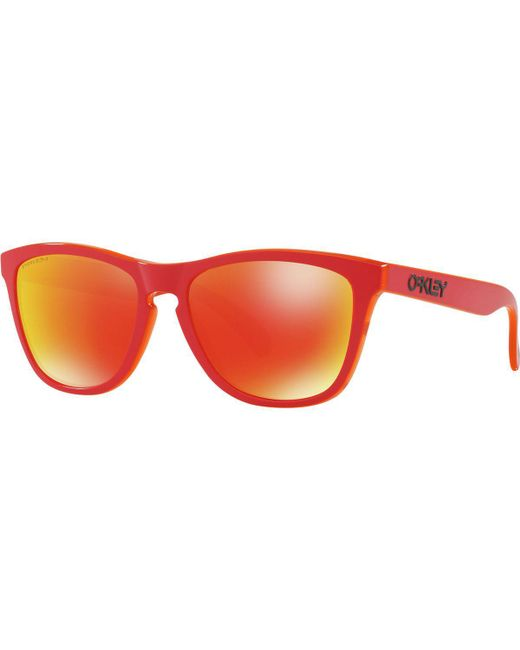 0a89786120 Lyst - Oakley Frogskin Grip Collection Sunglasses in Red for Men