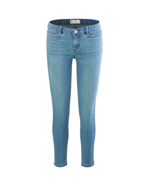 Free People - Blue Low Slung Skinny Pant - Lyst