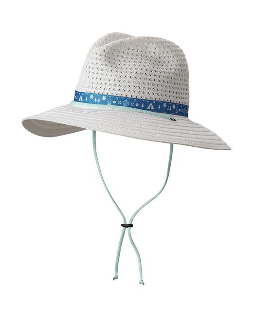 Columbia - White Bella Falls Straw Hat - Lyst