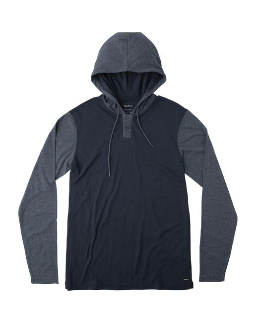 RVCA | Blue Pick Up Hoodie for Men | Lyst