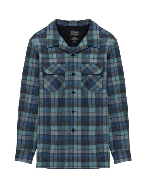 Pendleton - Blue Fitted Board Shirt for Men - Lyst