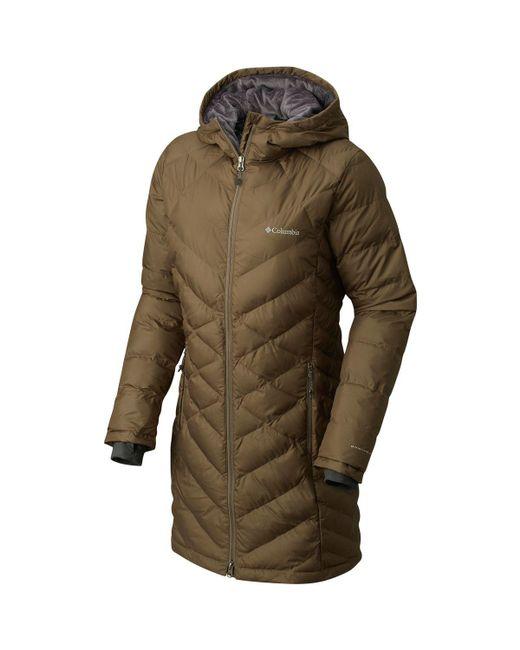 Columbia - Green Heavenly Long Hooded Jacket - Lyst