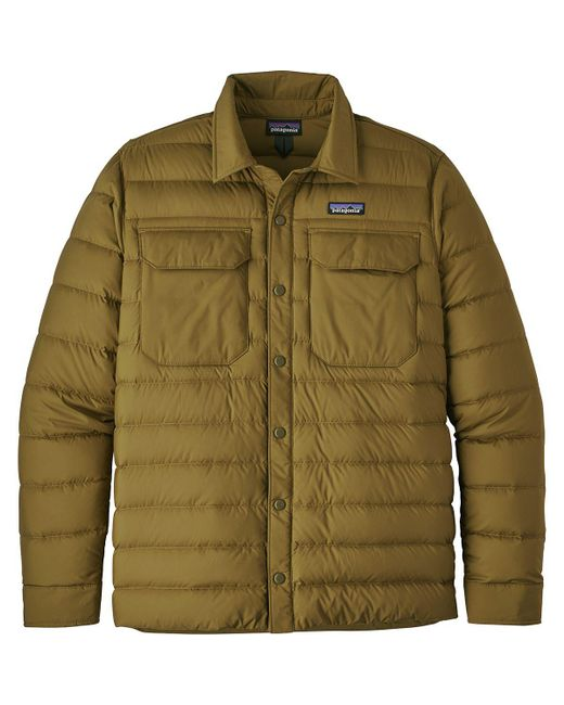 Patagonia Synthetic Silent Down Shirt Jacket in Cargo ...