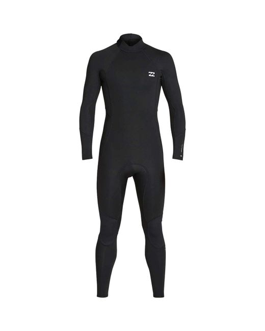 Billabong Black 3/2mm Absolute Back Zip Flatlock Full Wetsuit for men