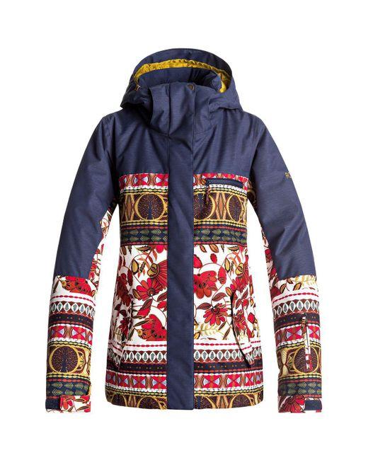 Roxy - Blue Torah Bright Jetty Block Hooded Jacket - Lyst