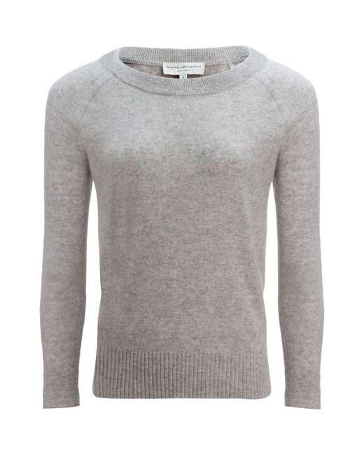 d87e3bb413 White + Warren - Gray Essential Sweater - Lyst ...