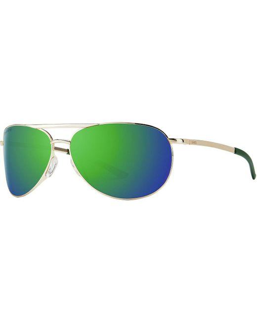 98d42bb2d2b Lyst - Smith Serpico 2 Slim Chromapop Sunglasses in Green for Men