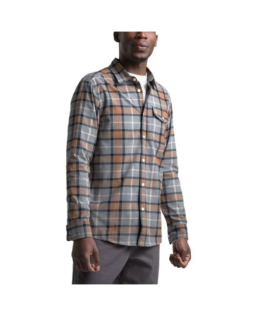 The North Face Gray Stayside Chamois Long-sleeve Shirt for men