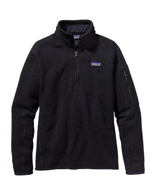 Patagonia - Black Better Sweater 1/4-zip Fleece Jacket - Lyst