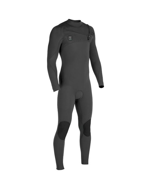Vissla Gray The 7 Seas 3/2 Chest Zip Long-sleeve Wetsuit for men