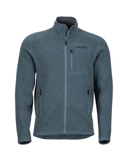 Marmot Blue Drop Line Fleece Jacket for men