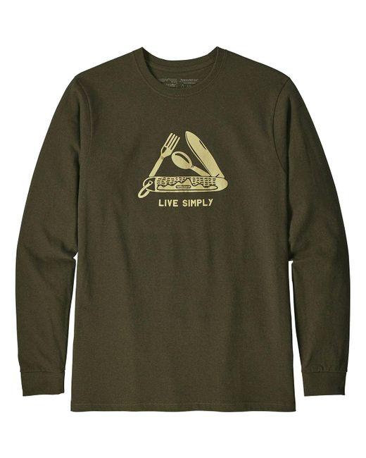 Patagonia - Green Live Simply Pocketknife Responsibili-t-shirt for Men - Lyst
