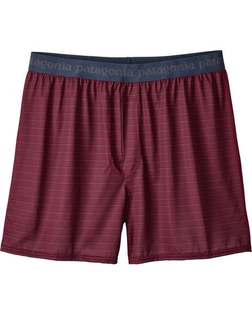 Patagonia   Red Capilene Daily Boxers for Men   Lyst