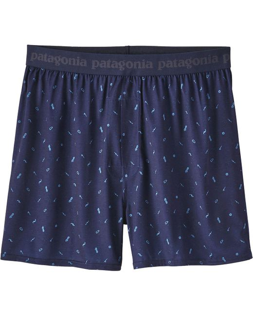 Patagonia - Blue Capilene Daily Boxer for Men - Lyst