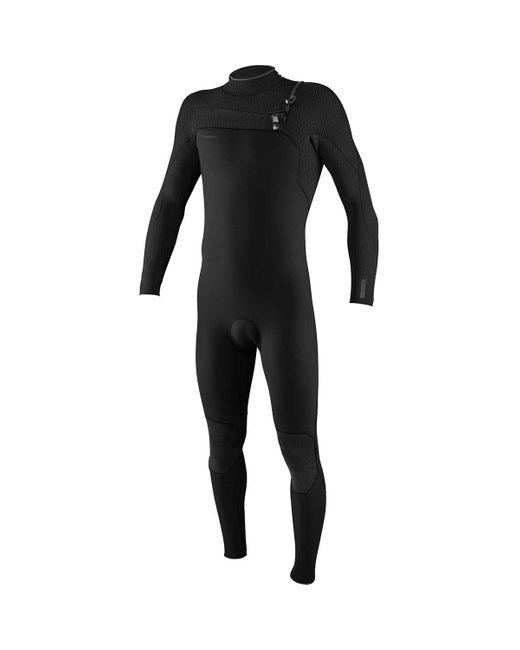 O'neill Sportswear Black Hyperfreak 3/2+mm Chest-zip Full Wetsuit for men