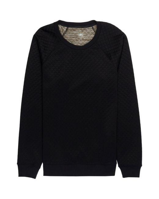 Alo yoga Yama Quilted Sweatshirt in Black for Men   Lyst : quilted sweatshirt - Adamdwight.com