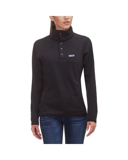 Patagonia Black Lightweight Better Sweater Marsupial Pullover