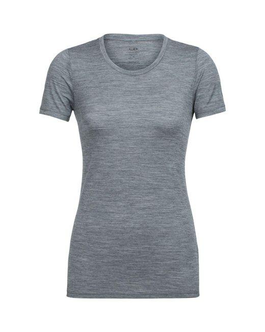 Icebreaker - Gray Tech Lite Short-sleeve Low Crewe Shirt - Lyst