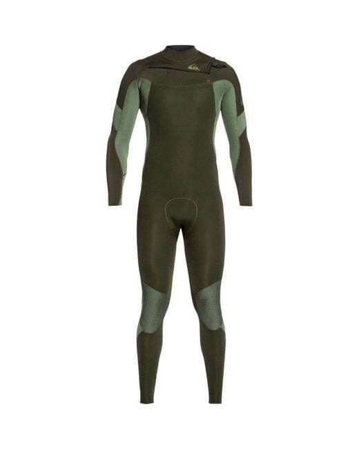 Quiksilver Green 3/2 Syncro Chest Zip Gbs Wetsuit for men