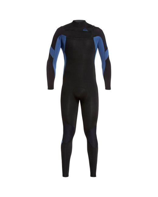 Quiksilver Black Chest Zip Gbs Wetsuit for men