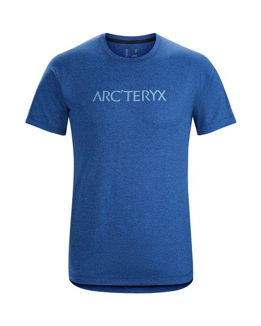 Arc'teryx - Blue Centre T-shirt for Men - Lyst