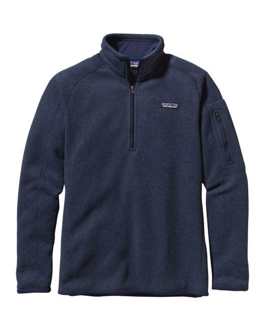 Patagonia - Blue Better Sweater 1/4-zip Fleece Jacket for Men - Lyst