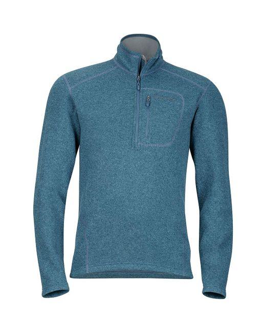 Marmot | Blue Drop Line 1/2-zip Fleece Jacket for Men | Lyst