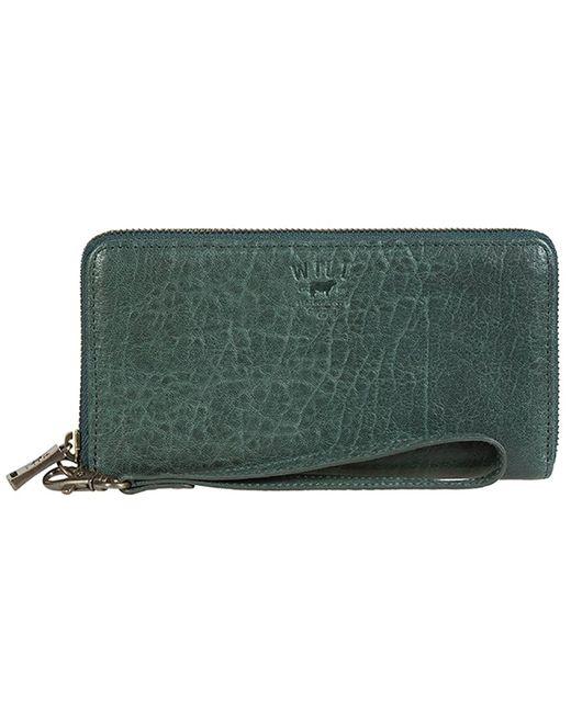 Will Leather Goods - Green Alix Zip Around Clutch - Lyst