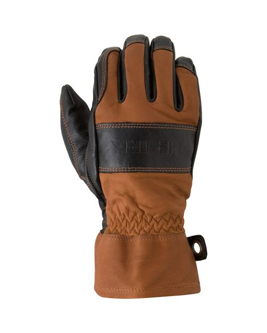Hestra Brown Falt Guide Glove for men