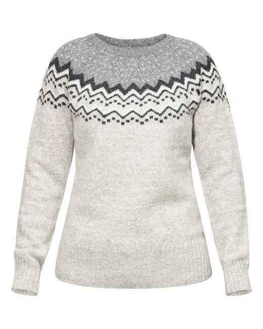 Fjallraven Gray Ovik Knit Sweater