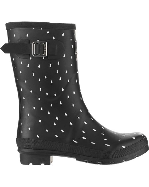 Joules - Black Molly Welly Boot - Lyst