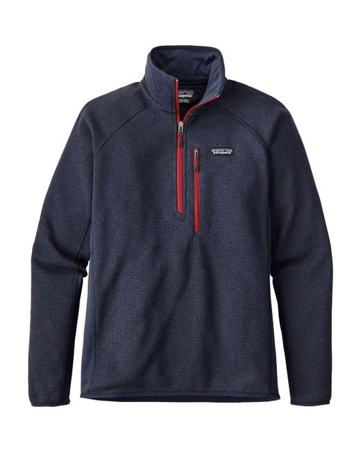 Patagonia - Blue Performance Better Sweater 1/4-zip Fleece Jacket for Men - Lyst