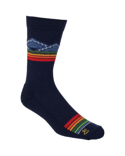Pendleton - Blue Merino Jacquard Park Sock for Men - Lyst