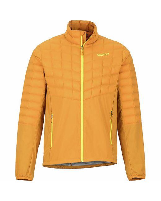 Marmot Orange Men's Featherless Hybrid Jacket for men