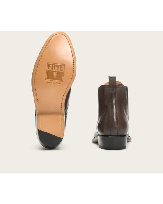 Frye | Gray Dorado Leather Chelsea Boots | Lyst