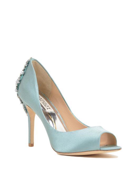 Badgley Mischka | Blue Nilla Embellished Heel Evening Shoe | Lyst