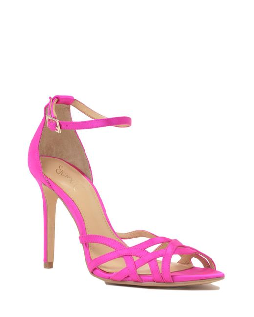 badgley mischka haskell satin evening shoe in pink lyst