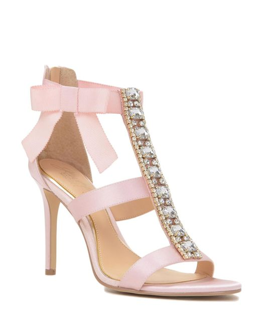 badgley mischka henderson embellished t evening shoe