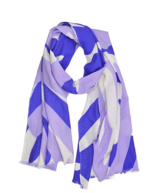 Badgley Mischka | Purple Graphic Palm Print Scarf | Lyst