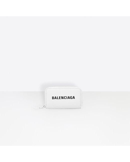 Balenciaga White Everyday Zip Continental Card