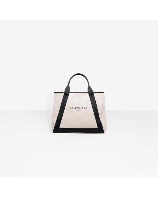 Balenciaga Natural Ligne Cabas M Cotton-Blend Shopper
