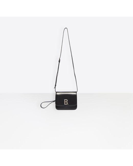 Treinta Discriminación sexual Activo  Balenciaga Leather B. Small Bag in Black - Lyst